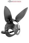 Masque bunny simili cuir réglable - Fetish Tentation