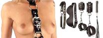 Fetish-SM : Des objets fétish en cuir et métal pour pimenter vos jeux de rôles, des jouets SM  soft et hard: menottes, martinets, baillons, harnais, pinces, speculum...