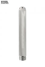 Canule de douche acier - Steel Power Tools - Embout de douche en acier inoxydable, fileté, haute qualité, pour les lavements et le jeu anal.