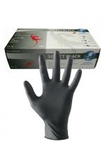 Gants latex chirurgicaux (x100) : 100 Paires de gants en latex noir pour jouer au docteur.