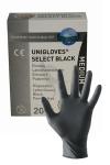 20 gants en latex jetables - Mister B - Pack de 20 gants chirurgicaux ambidextre en latex noir, taille small, medium ou large, par Mister B.