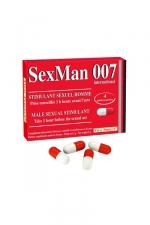 Aphrodisiaque SexMan 007 - 4 gélules - 4 Gélules aphrodisiaques pour hommes, pour booster la virilité et les performances sexuelles.