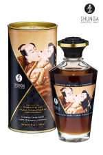 Huile chauffante - Latté d'amour crémeux - Huile aphrodisiaque comestible et chauffante, saveur Latté d'amour crémeux, activée par la chaleur de la peau ou les baisers, by Shunga.
