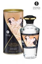 Huile chauffante - Vanille fétiche - Huile aphrodisiaque comestible et chauffante, saveur Vanille fétiche, activée par la chaleur de la peau ou les baisers, by Shunga.