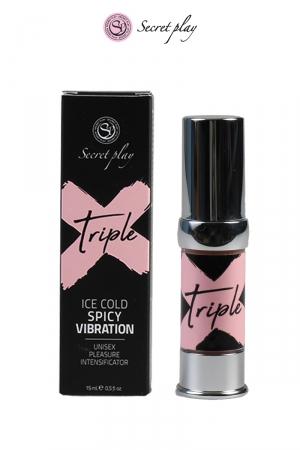 Triple X - stimulant unisex - 15ml - Gel stimulant unisex fabriqué en Espagne pour vous faire passer par plusieurs sensations en une seule utilisation.