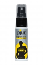 Spray retardant Pjur Superhero Strong performance - Spray retardant l'éjaculation simple à utiliser et efficace, conçu pour prolonger le plaisir masculin.