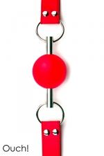 Solid Ball Gag rouge - Ouch!  - Bâillon boule de grande qualité et original avec sa balle en caoutchouc traversée par une tige en métal.