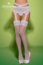 Swanita stockings white : Splendide paire de bas blancs de marque Obsessive, collection Swanita.
