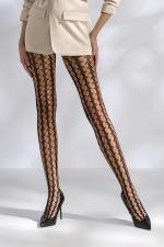 Collants résille TI048 - noir : Collants résille à mailles fantaisie, style 70's.