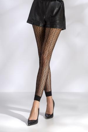Leggings résille TI050 - noir - Leggings de charme en résille fantaisie à motifs.