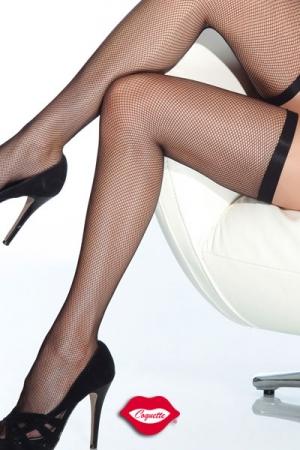 Bas r�sille Slim : Bas r�sille tr�s �l�gants avec leur jarreti�re fine et �lastique qui ceinture vos cuisses.