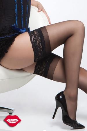 Bas nylon dentelle Sheer : Bas nylon avec jarretière dentelle autofixante, habillez vos jambes d'une touche de charme glamour.