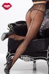 Collant résille couture et strass