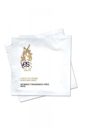 Lingettes intimes non parfumées : Boite de 10 lingettes en sachet individuel pour nettoyer votre intimité tout en douceur.