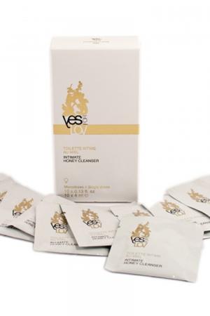 Toilette intime au miel mono-doses - Boite de 10 sachets monodoses au miel pour votre hygiène intime au quotidien.