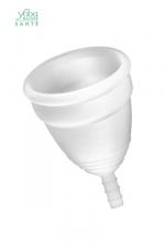 Coupe menstruelle Blanche Yoba Nature - Coupe menstruelle 100% silicone Premium, disponible en 2 tailles, par Yoba Nature.