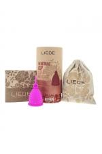 Cup menstruelle rose petite taille - Liebe - Coupe menstruelle 100% silicone, pratique et hygiénique, écologique et réutilisable, modèle taille S coloris rose, marque Liebe.