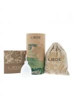 Cup menstruelle blanche grande taille - Liebe - Coupe menstruelle 100% silicone, pratique et hygiénique, écologique et réutilisable, modèle taille L coloris blanc, marque Liebe.