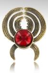 Pince � sein Elisabeth - Un bijou de sein unique compos� d'une pince pour t�ton en bronze sertie  de son cristal (7 couleurs).