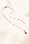Chaine de cheville Cristal rose - Un Cristal rose sur une cha�ne fine et d�licate pour parer votre cheville.