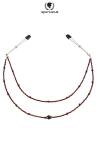 Collier de seins Perles rouge - 2 rangées