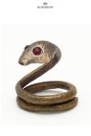 Anneau de pénis Bira - Un cobra en bronze prêt à bondir pour enserrer votre gland et hypnotiser votre entourage.