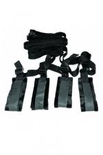 Contraintes de lit - Sex & Mischief - Kit de bondage spécialement adapté pour attacher votre esclave sur le lit.