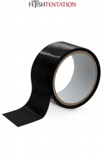 Ruban de soumission noir 15m - Fétish Tentation - Ruban de soumission auto-fixant en PVC noir pour vos jeux intimes, 15 mètres de long par 5 cm de large.