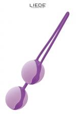 Love balls violet et mauve - Liebe - Boules de geisha 100% silicone Premium, pour renforcer les muscles vaginaux tout en se faisant plaisir en toute discrétion.