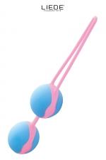Love balls bleu et rose - Liebe - Boules de geisha 100% silicone Premium, pour muscler les muscles vaginaux tout en se faisant plaisir en toute discrétion.