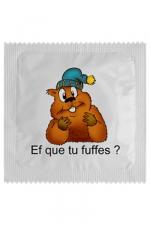 Préservatif humour - Ef Que Tu Fuffes - Préservatif  Ef Que Tu Fuffes , un préservatif personnalisé humoristique de qualité, fabriqué en France, marque Callvin.