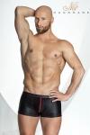 Short STRONGER Red Line - Short noir moulant rehaussé de rouge sur les coutures et le zip de la coquille. L'esprit viril.