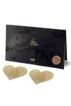 Bijoux de seins Flash Coeur Or - Avec ces décorations permettant de cacher les mamelons, osez laisser le soutien-gorge au placard !