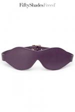 Bandeau cuir - Fifty Shades Freed - Luxueux bandeau pour les yeux en cuir souple et matelassé, par Fifty Shades of Grey.
