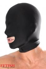 Cagoule spandex bouche ouverte - Privé de ses principaux sens, concentrez son attention sur sa bouche...