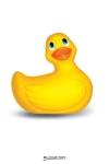 Canard vibrant My Duckie Travel - jaune - Exigez l'original ! L'authentique petit canard vibrant en format de voyage et  coloris jaune.