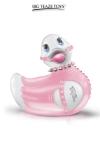 Mini canard vibrant bondage - rose - Une nouvelle tenue bondage Fashionista en rose et blanc pour le canard vibrant le plus célèbre du monde.