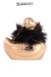 Mini canard vibrant Duckie Paris - doré - Le célèbre canard vibrant  en version mini Paris doré. nouveau modèle plus silencieux avec 7 modes de vibrations.