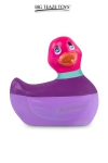 Mini canard vibrant Colors rose - Déclinaison à tête rose du célèbre canard vibrant dans la collection  Colors . I Rub My Duckie est désormais en version 2.0.