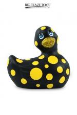 Mini canard vibrant Happiness noir - Déclinaison noire du célèbre canard vibrant dans la collection Happiness.  I Rub My Duckie est désormais en version 2.0.