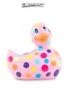 Mini canard vibrant Happiness rose - Déclinaison rose et multicolore du célèbre canard vibrant dans la collection  Happiness .  I Rub My Duckie est désormais en version 2.0.