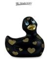 Mini canard vibrant Romance jaune et or - Déclinaison noire et or du célèbre canard vibrant dans la collection