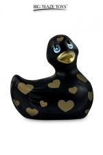 Mini canard vibrant Romance noir et or - Déclinaison noire et or du célèbre canard vibrant dans la collection Romance.  I Rub My Duckie est désormais en version 2.0.