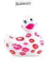 Mini canard vibrant Romance blanc et rose - Déclinaison blanche et rose du célèbre canard vibrant dans la collection  Romance .  I Rub My Duckie est désormais en version 2.0.