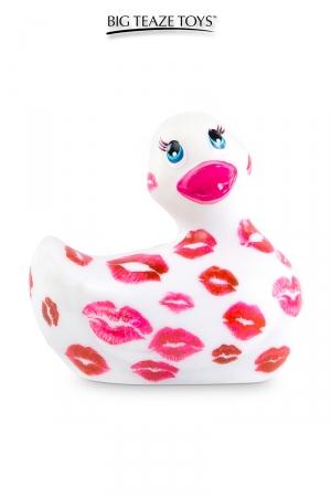 Mini canard vibrant Romance blanc et rose : Déclinaison blanche et rose du célèbre canard vibrant dans la collection
