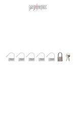 6 Cadenas  blanc - Mancage - Lot de 6 petits cadenas blancs (5 plastique + 1 métal) pour verrouiller vos accessoires BDSM.