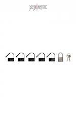 6 Cadenas  noir - Mancage - Lot de 6 petits cadenas noir (5 plastique + 1 métal) pour verrouiller vos accessoires BDSM.