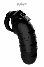 Cage de chasteté 14cm ManCage 05 noir - Cage de chasteté masculine ajustable, noire, longueur 14 cm, adaptée aux verges de grande taille, par ManCage.