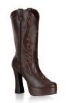Bottes Cow-girl Electra - Bottes compens�es style western, talons de 12 cm.