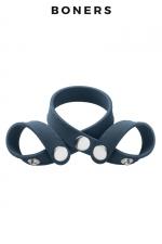 Séparateur de testicules 8 styles - Boners - A la fois ball splitter et cockring, 100% réglable, pour le look, pour plus de sensations et pour améliorer vos performances..